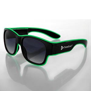 TrendGeek LED Partybrille, kabellos - Schwarz-Grün