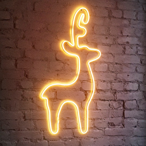 I-Glow LED Wanddekoration Neon Rentier