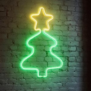 I-Glow LED Wanddekoration Neon Weihnachtsbaum
