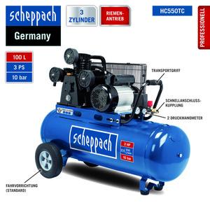 Scheppach Riemenantrieb Kompressor HC550TC
