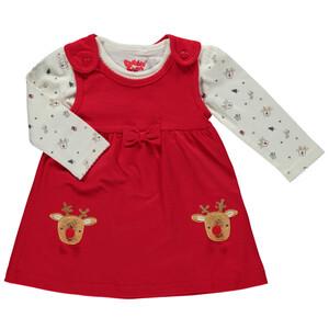 Baby Set, best. aus Langarmshirt und Kleid