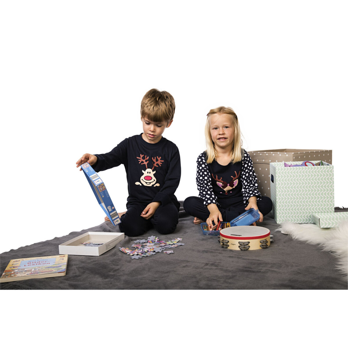 Bild 4 von Jungen Pyjama Set mit Elchgesicht