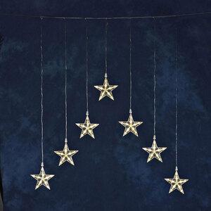 Konstsmide              LED-Lichtervorhang mit 7 Sternen, 35 Dioden, warmweiß