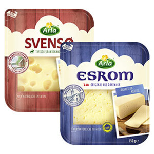 Arla Esrom oder Svenso Dänischer Schnittkäse 45 % Fett i. Tr. und weitere Sorten jede 150-g-Packung