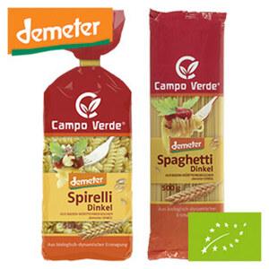 Campo Verde Bio-Dinkel Teigwaren versch. Sorten, jede 500-g-Packung