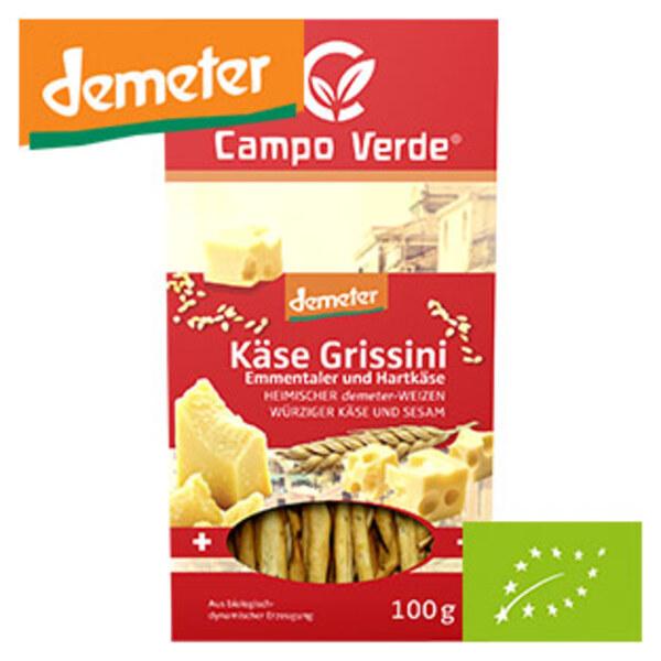 Campo Verde Demeter  Käse, Pizza oder Dinkel Grissini jede 100-g-Packung