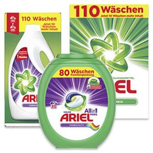 Ariel Waschmittel 110/100/80 Waschladungen, versch. Sorten, jede Packung
