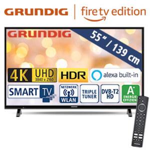"55""-Ultra-HD-LED-TV 55 VLX 6000 • HbbTV • 3 HDMI-/2 USB-Anschlüsse, CI+ • 40 Watt RMS • Stand-by: 1,95 Watt, Betrieb: 84,1 Watt • Maße: H 72,8 x B 124,7 x T 8,5 cm • Energie-Effizienz A"