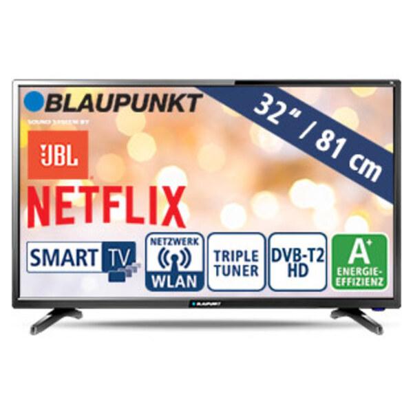 """32""""-LED-HD-TV BLA-32/138Q • Auflösung 1.366 x 768 Pixel • 3 HDMI-/2 USB-Anschlüsse, CI+ • 2 x 10 Watt RMS • Stand-by: 0,5 Watt, Betrieb: 31 Watt • Maße: H 43,1 x B 73,2 x T 8,4 cm • En"""