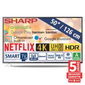 "50""-Ultra-HD-LED-TV 50BL2EA • HbbTV • 3 HDMI-/2 USB-Eingänge, Micro-USB-Anschluss, CI+, Micro-SD-Kartenslot • 2 x 10 Watt RMS • Stand-by: 0,5 Watt, Betrieb: 70 Watt • Maße: H 65,2 x B 112"