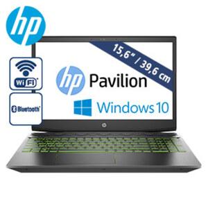 Gaming Notebook Pavilion-15-cx0555ng · entspiegeltes Full-HD-IPS-Display · Intel® Core™-i5 8300H Prozessor (bis zu 4 GHz), 4 Kerne · NVIDIA® GeForce® GTX 1050 Ti Grafik, 4-GB-GDDR5 eigener Gr