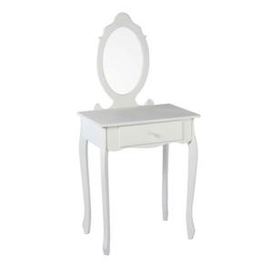 Schminktisch mit Spiegel in Weiß