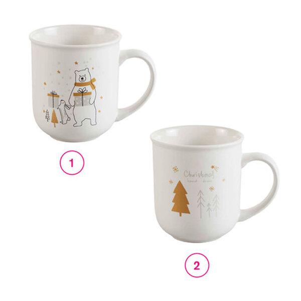 Kaffeebecher Weihnachten mit Goldmotiv 400 ml in verschiedenen Varianten