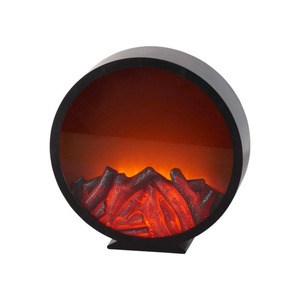 ProVida LED-Laterne Kaminoptik rund 31,5 x 8,5 x 32 cm
