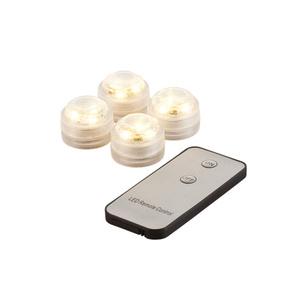 """ProVida LED-Stimmungslichter Mini """"Warmweiß"""" inklusive Fernbedienung 4 Stück"""