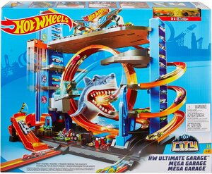 Mattel Hot Wheels Ultimative Garage mit Hai-Angriff