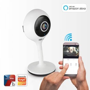 Caliber Smart Home App gesteuerte 1 MP 720p HD WiFi-IP-Kamera HWC101, Tuya kompatibel