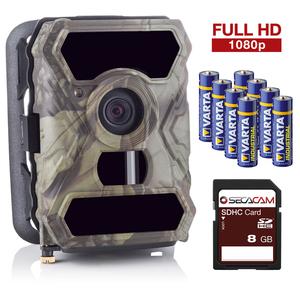 SECACAM HomeVista - 100° Weitwinkel, Professionell - Outdoor Überwachungskamera Wildkamera – Full HD Tag- / Nachtsicht /12 MP / 0,4 Sekunden Auslösezeit / Bewegungsmelder, kabellos