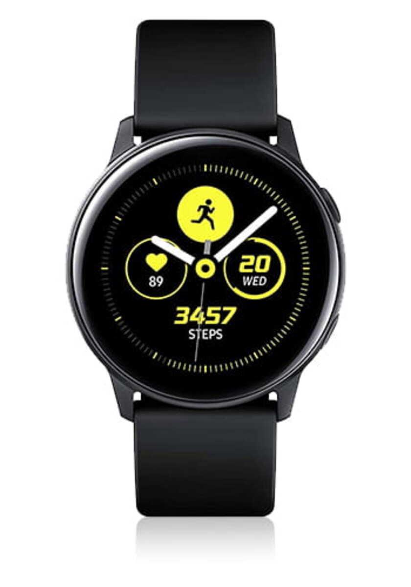 Bild 1 von Samsung SM R500 Galaxy Watch Active schwarz, Farbe:Schwarz