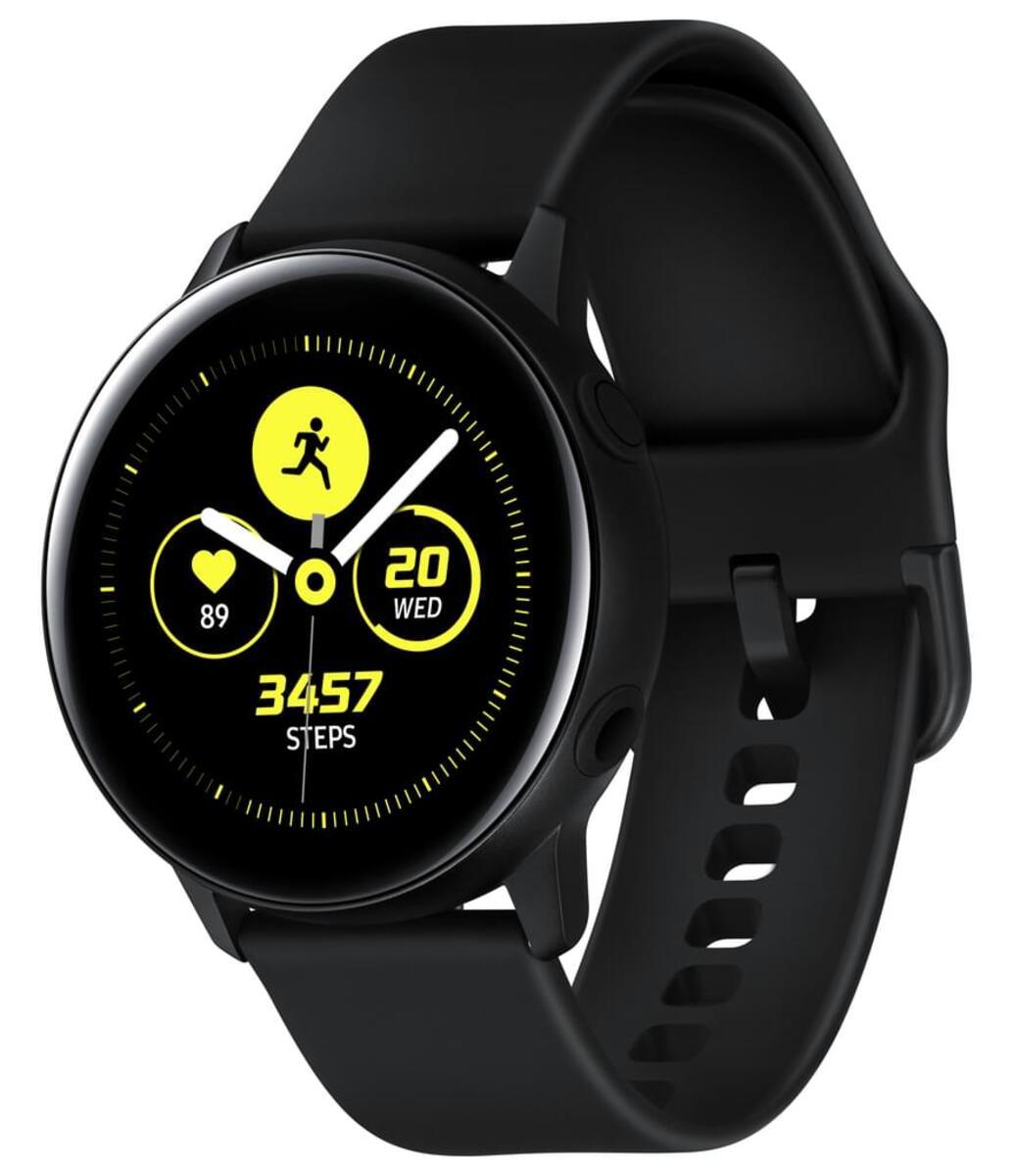 Bild 2 von Samsung SM R500 Galaxy Watch Active schwarz, Farbe:Schwarz