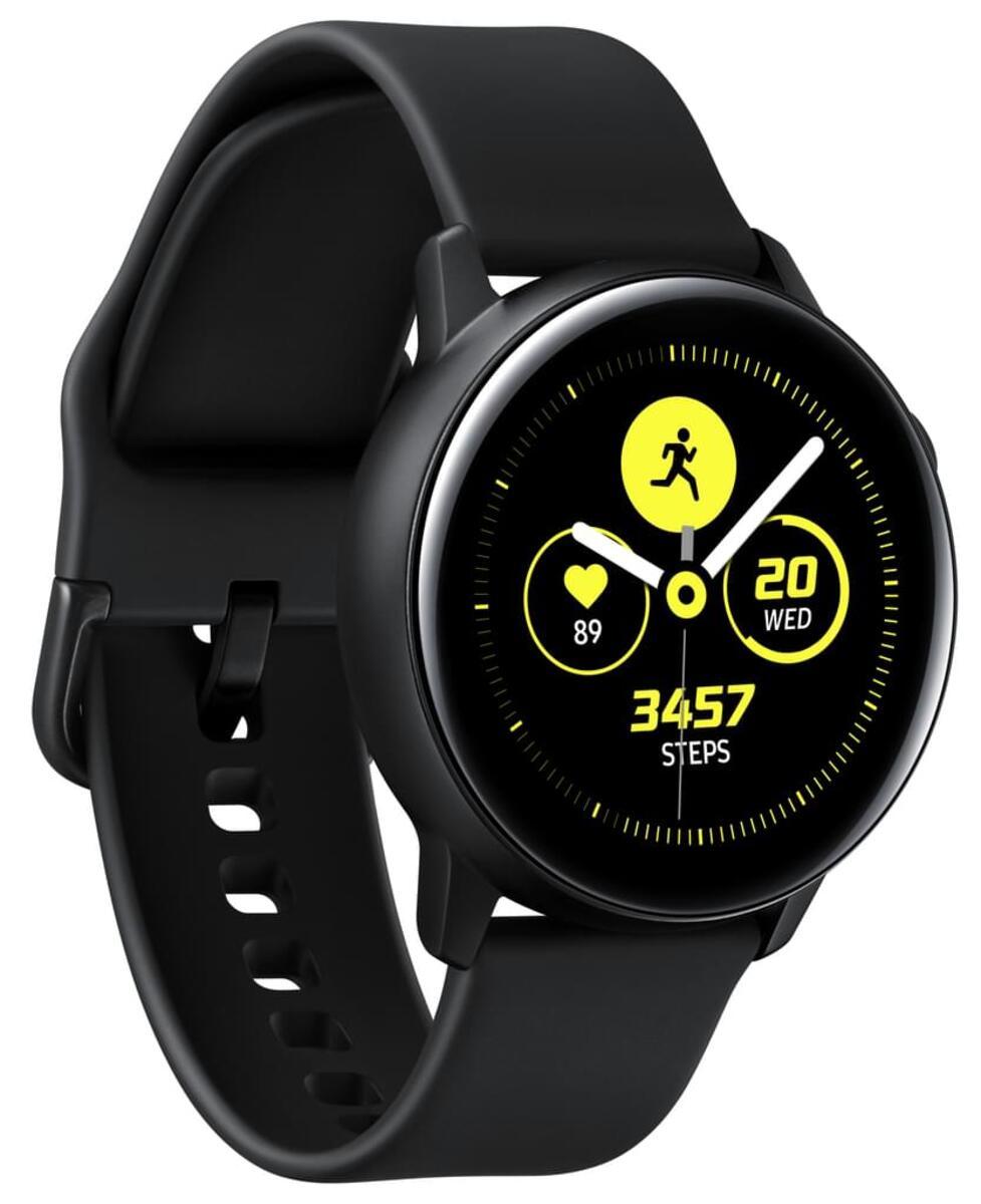 Bild 3 von Samsung SM R500 Galaxy Watch Active schwarz, Farbe:Schwarz