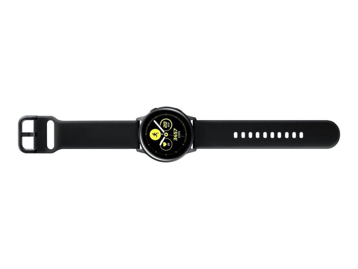 Bild 5 von Samsung SM R500 Galaxy Watch Active schwarz, Farbe:Schwarz