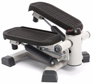 SportPlus 2in1 Mini-Stepper mit patentierter Umschalttechnik, Side-Stepper und Auf-und-Ab-Stepper in einem Gerät, Nutzergewicht bis 100kg
