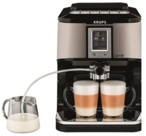 Krups EA 880 E One-Touch-Cappuccino Vollautomat silber/schwarz