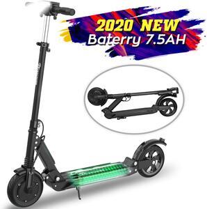 MARKBOARD Elektroscooter E-Scooter Elektroroller Klappbar  Erwachsene Bis 30 km/h E Roller Mit Vorderen und Hinteren Rückleuchten | 7.5Ah Akku | 350 Watt Motor City Roller schwarz