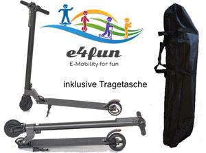 E4fun Marken E-Scooter für Erwachsene, Kinder, Roller, max 100 KG, max 20 km/h, Elektro Roller, 2019, 250 Watt, Faltbarer Roller, klappbar, elektroscooter, Inklusive Tragetasche!!