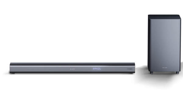 SHARP 3.1 Dolby Atmos Soundbar mit virtuellem 3D Surround Sound und kabellosem Subwoofer, Bluetooth, 4K-Erlebnis, HT-SBW460