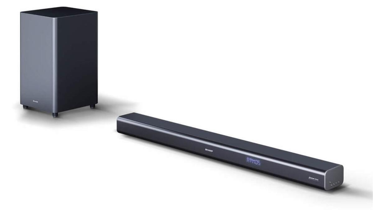 Bild 2 von SHARP 3.1 Dolby Atmos Soundbar mit virtuellem 3D Surround Sound und kabellosem Subwoofer, Bluetooth, 4K-Erlebnis, HT-SBW460