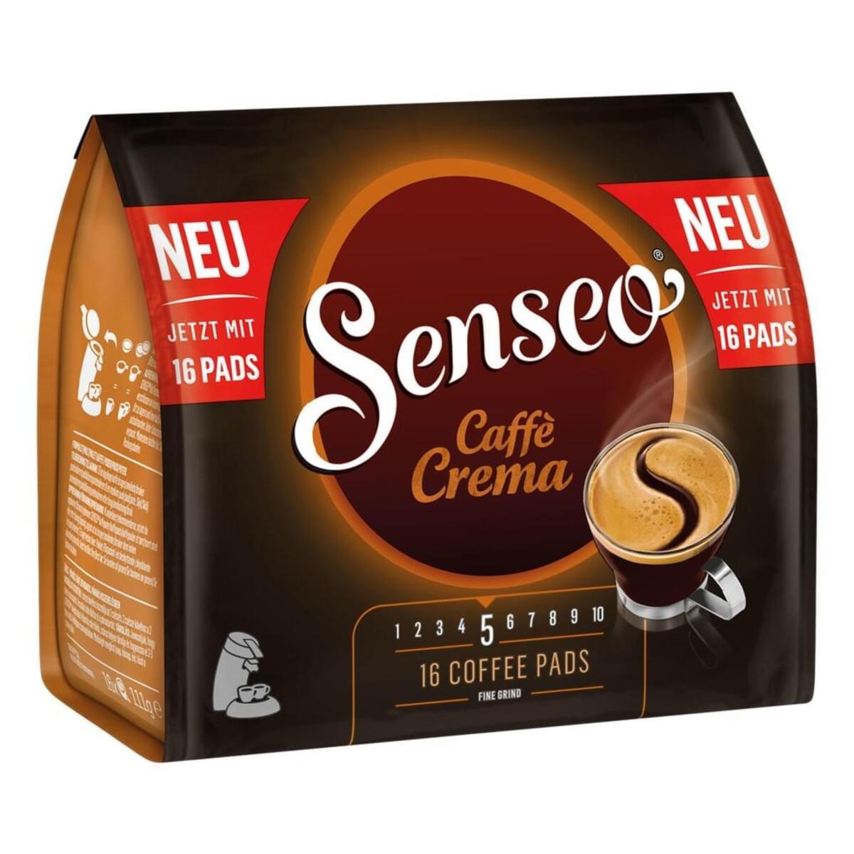 Bild 2 von Senseo Caffe Crema, Kaffeepads, Aromatisch und Vollmundig, Röstkaffee, Kaffee, 16 Pads