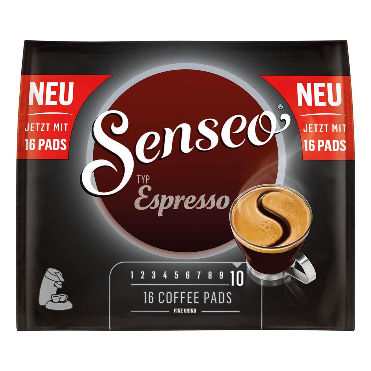Bild 1 von Senseo Typ Espresso, Kaffeepads, Aromatisch und Vollmundig, Röstkaffee, Kaffee, 16 Pads