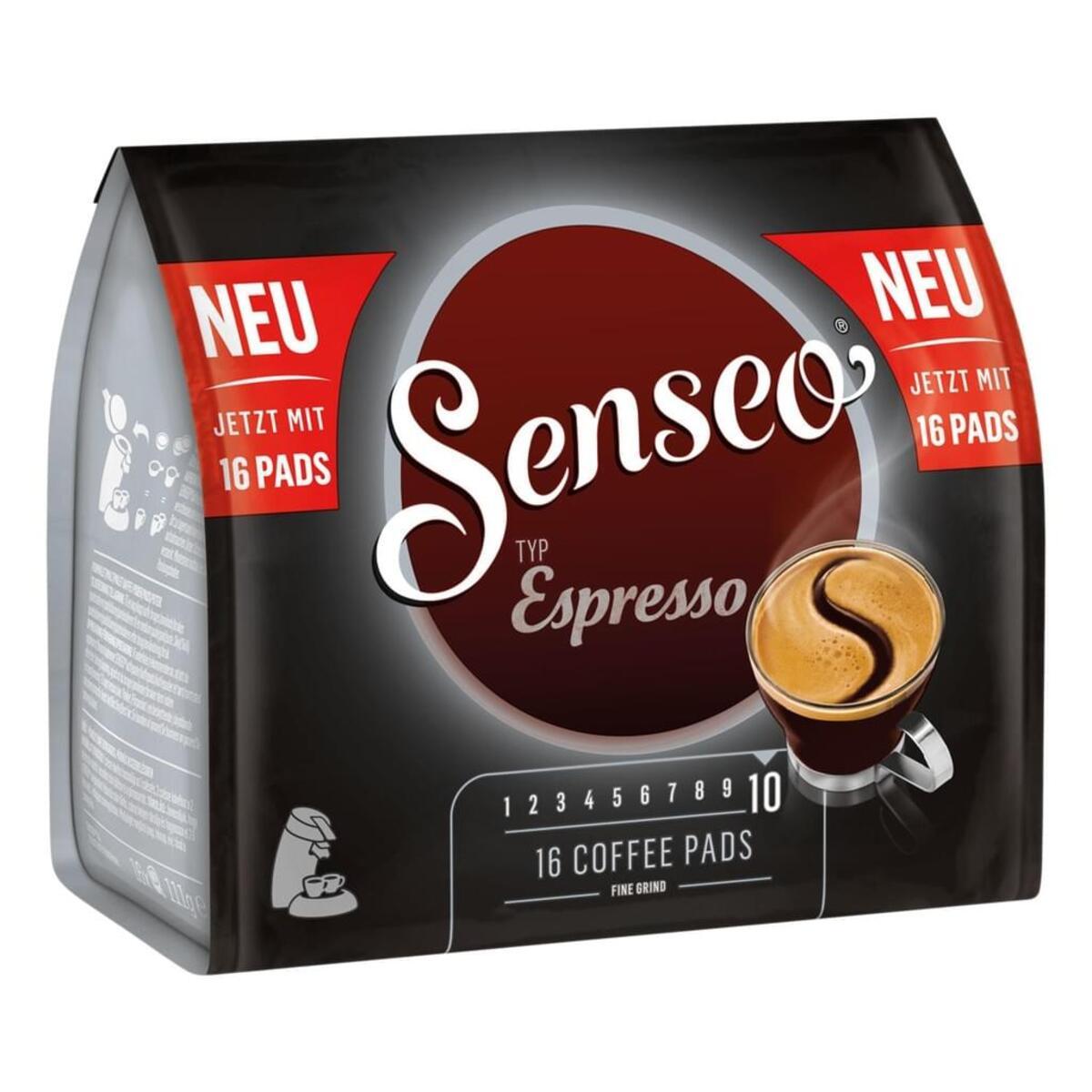 Bild 2 von Senseo Typ Espresso, Kaffeepads, Aromatisch und Vollmundig, Röstkaffee, Kaffee, 16 Pads