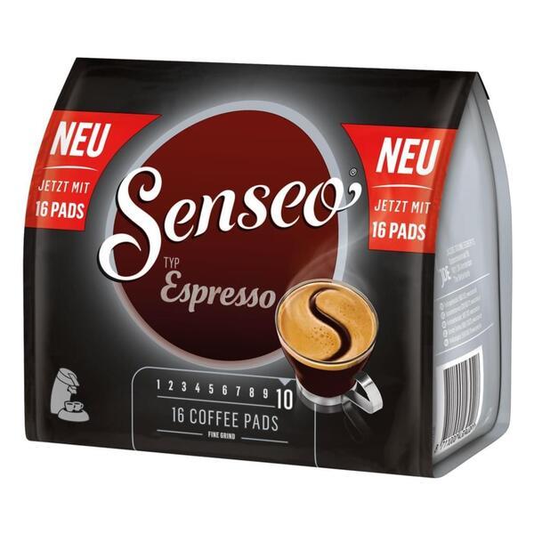Senseo Typ Espresso, Kaffeepads, Aromatisch und Vollmundig