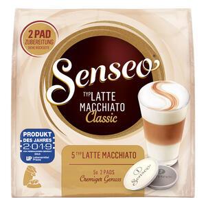Senseo Kaffeepads Latte Macchiato Classic, Milchkaffee, Kaffee Pad, Relaunch, neues Design, 10 Pads für 5 Portionen