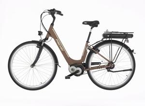 Fischer City-E-Bike CITA 3.0, 28 Zoll, mocca matt