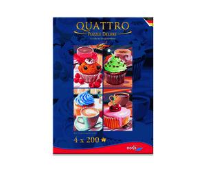 Noris Spiele Quattro Puzzle 800tlg. Cupcake; 606038018