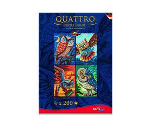 Noris Spiele Quattro Puzzle 800tlg. Vogel d. Weisheit; 606038021
