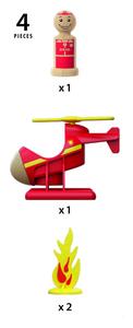 BRIO Feuerwehrhelikopter; 30337