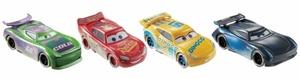 Disney Cars Fireball Beach Rennfahrzeuge 4er-Pack (HJ Hollis, Jackson Storm, Lightning McQueen, Dinoco Cruz Ramirez)