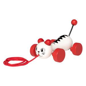 Brio Nachzieh-Katze, Katzespielzeug, Tierspielzeug, Holzspielzeug, Spielzeug, 30187