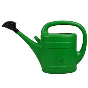 Gießkanne 10 Liter grün aus Kunststoff mit Brause