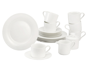 CROFTON®  Chef's Collection Kaffeeservice Bone China, 20-teilig