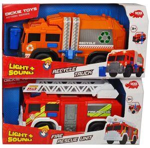 Dickie Toys Großfahrzeuge Bundle - Müllfahrzeug & Feuerwehrauto