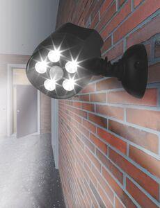 EASYmaxx LED-Strahler 360° In- & Outdoor 6V schwarz mit Bewegungsmelder