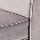 Bild 3 von Samt-Sofa im skandinavischen Stil, 2-Sitzer, grau