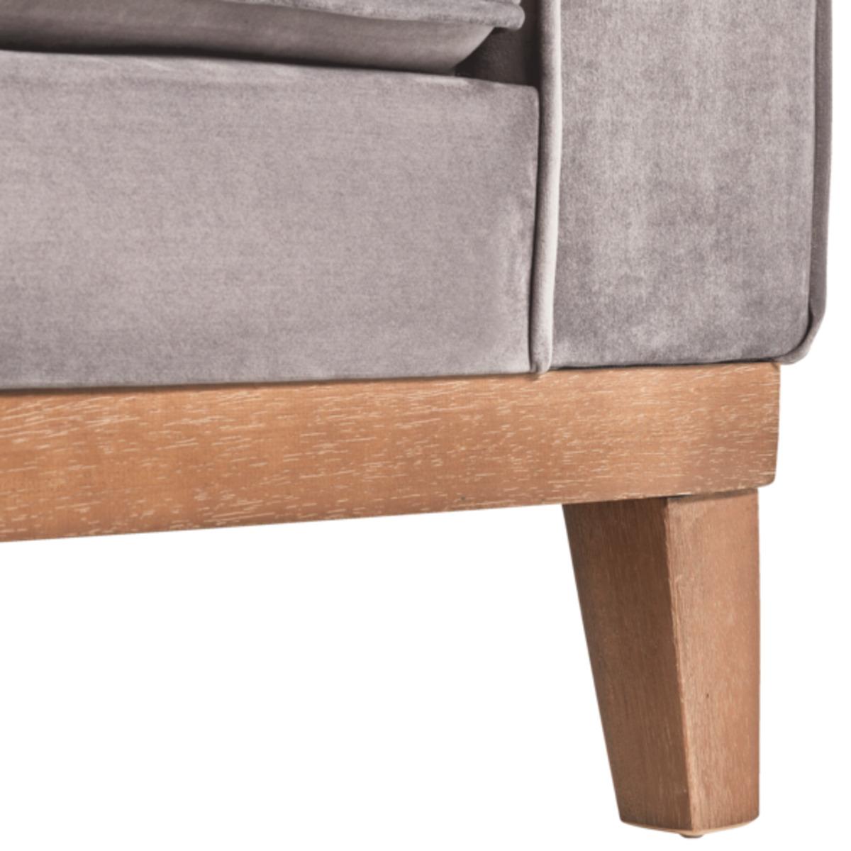 Bild 4 von Samt-Sofa im skandinavischen Stil, 2-Sitzer, grau