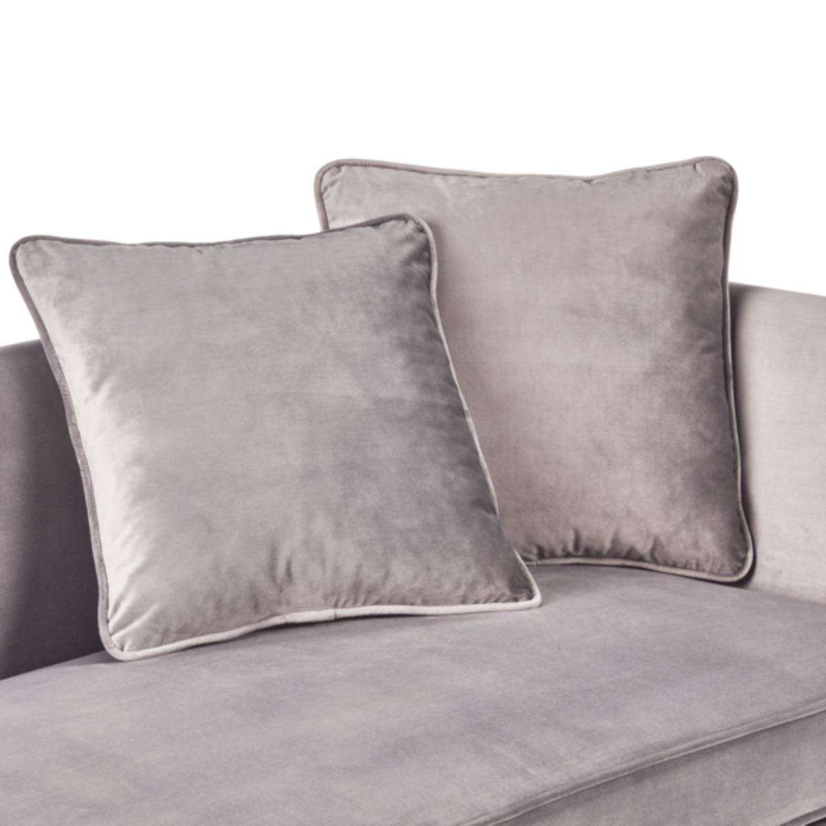 Bild 5 von Samt-Sofa im skandinavischen Stil, 2-Sitzer, grau
